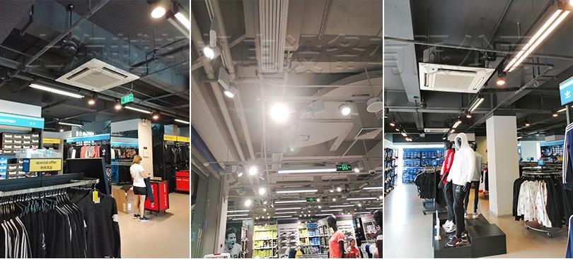 阿迪达斯中央空调系统室内机安装