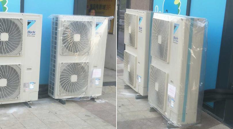 阿迪达斯中央空调系统室外机安装