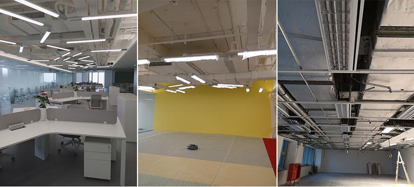 联强国际办公楼组合式中央空调室内机安装