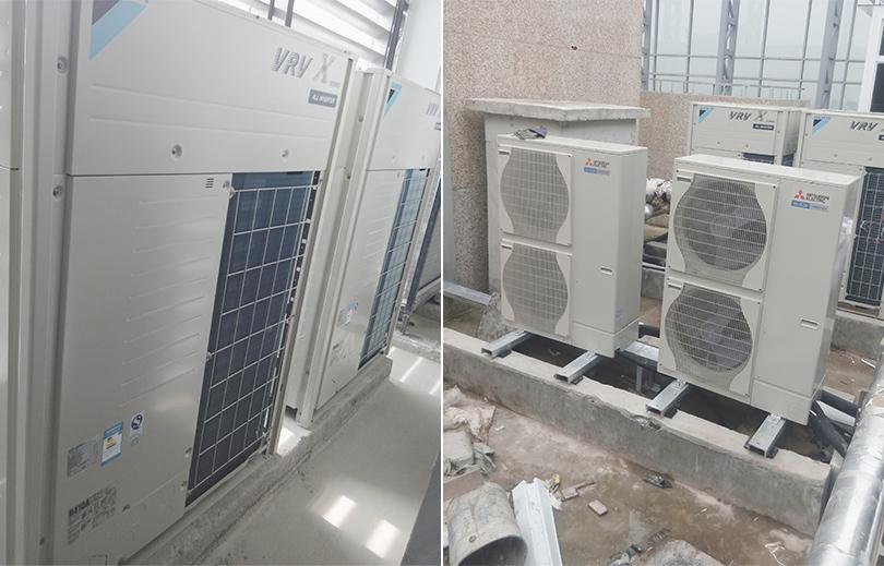联强国际办公楼组合式中央空调室外机安装