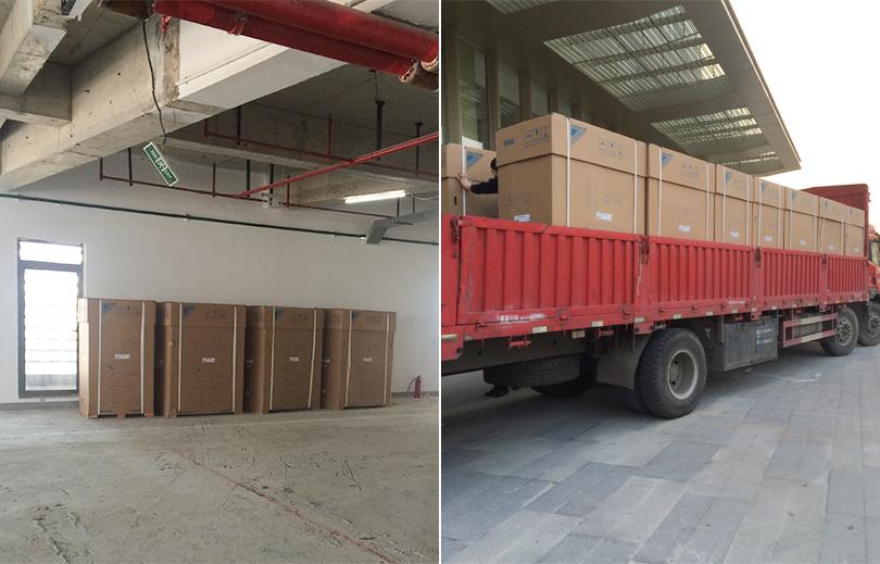 联强国际办公楼组合式中央空调现场收货