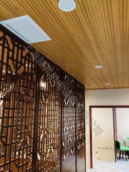 茶室美的空调和三菱新风安装工程
